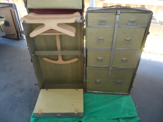 Antique Steamer Trunk / Wardrobe Trunk photo