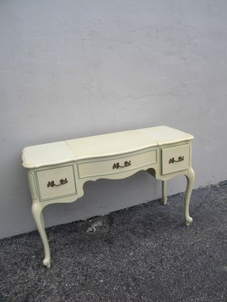 French Painted Vanity Desk With Mirror 2619 photo