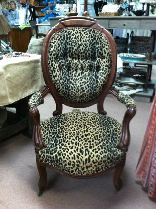 Gorgeous Antique Victorian Gentlemen ' S Chair Circa 1860 Upholstery photo