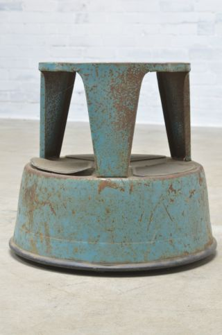 Vintage Industrial Mid Century Really Cool Step Stool / All And Strong photo