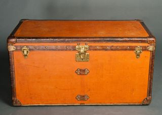Louis Vuitton Vintage Rare Orange Trunk Chest photo