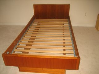Danish Modern Teak Platform Twin Size Bed By Wb Mobler photo
