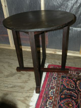 Antique Mission Arts And Crafts Style End Side Lamp Bailey Table photo