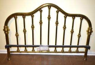 Classic Designed Brass Bed Made By Brass Beds Of Virginia Model B110 photo