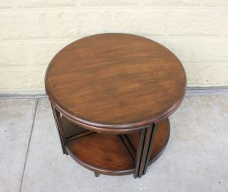 Set Of 5 Nesting Art & Craft Coffee Tables.  Made From Walnut. photo