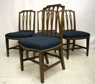 Antique Victorian Chairs Chippendale Style Dining Mahogany photo