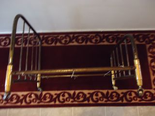 Iron Frame With Brass Doll/pet Bed Salesman Sample Have To See Gotta Have It photo