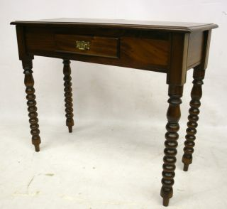 Antique Victorian Desk Writing Table Satin Mahogany photo