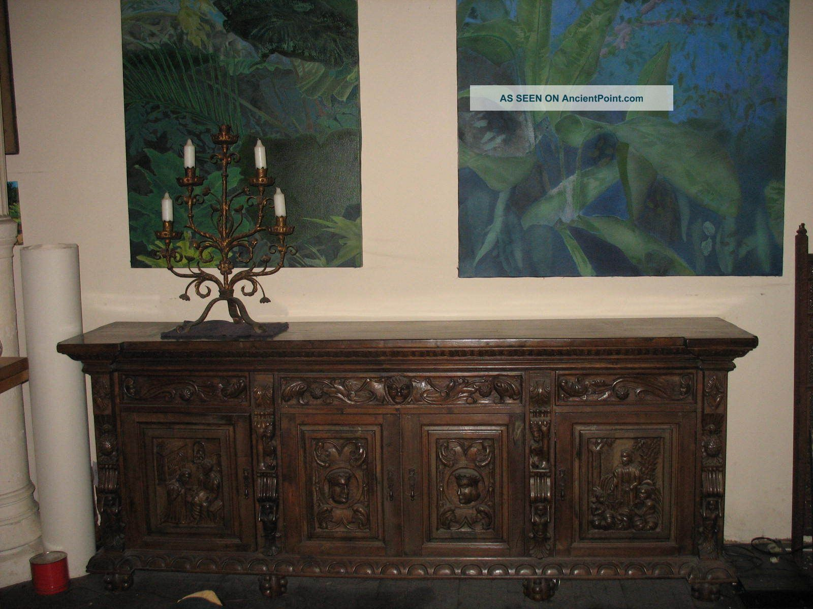 Carved Spanish Sideboard.  Unique. 1900-1950 photo