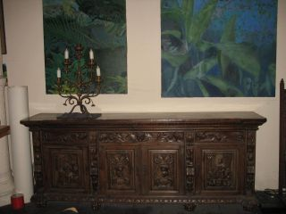 Carved Spanish Sideboard.  Unique. photo