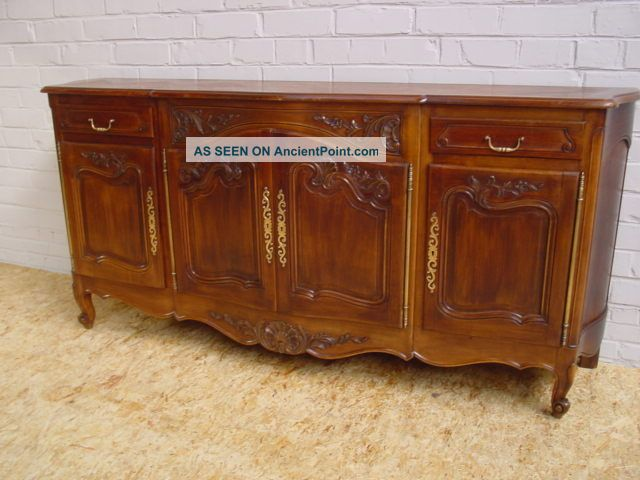 111007 : Antique French Louis Xv Walnut Sideboard 1900-1950 photo