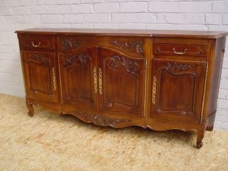 111007 : Antique French Louis Xv Walnut Sideboard photo