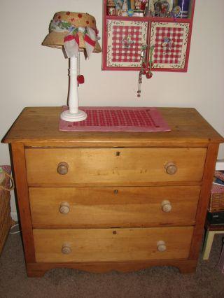 Fabulous Scottish Antique Vintage Pine Dresser,  Org 450.  00 3 Drawer photo