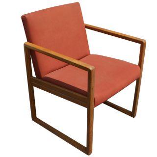 Vintage Mid Century Stow Davis Wood Arm Side Chair photo