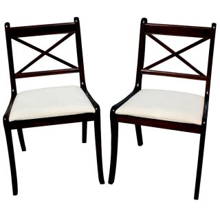Pair Of Dining Wood Side Bombay Chairs photo