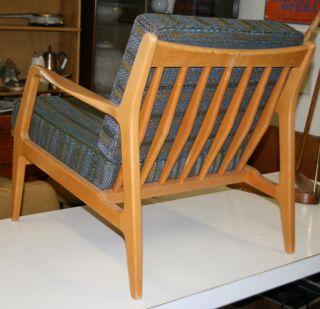 Vintage All Danish Modern Teak Lounge Chair Sleek Mod Wow Eames Era photo