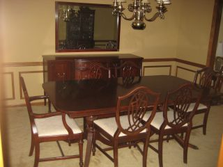 1930 ' S Duncan Phyfe 11 Piece Mahogany Dining Room Set photo