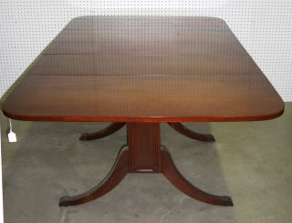 American Antique Mahagony Drop Leaf Table With Leaf Circa 1930 photo