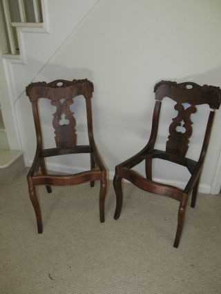 Pair Of Antique Chairs From Omaha,  Ne photo