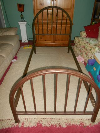 Antique Greenpoint Metal Bed Frame photo