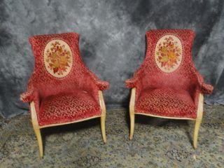 Pair Designer Club Fireside Club Chairs Wow Antique photo
