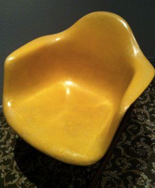 Eames Yellow Gray Rocking Chair Double Triangle Fiberglass Herman Miller Rocker photo