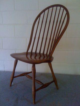 Vintage S.  Bent & Bros.  Solid Oak Windsor Chair In Vgc photo