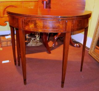 Antique American Federal Mahogany Tea Or Game Table Circa 1790 photo