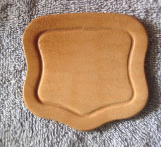 Large Leather Lock Cover Or Lid Lift.  Natural 7 - 8 Oz Single Ply Leather photo