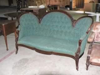 Walnut Rococo Victorian Sofa,  Wonderful Old Surface And Patina Make Offer photo