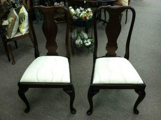 Vintage Mahogany Dining Chairs (english) Set Of 2 - photo