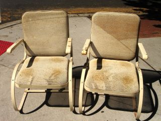 Pair Of Wire Mesh Lawn/outdoor Chairs,  Comfortable And Unique Style,  Mid - Century photo