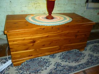 Older Cedar Chest Solid Cedar. .  Good Finish Full Size Not Marked With Maker Name photo