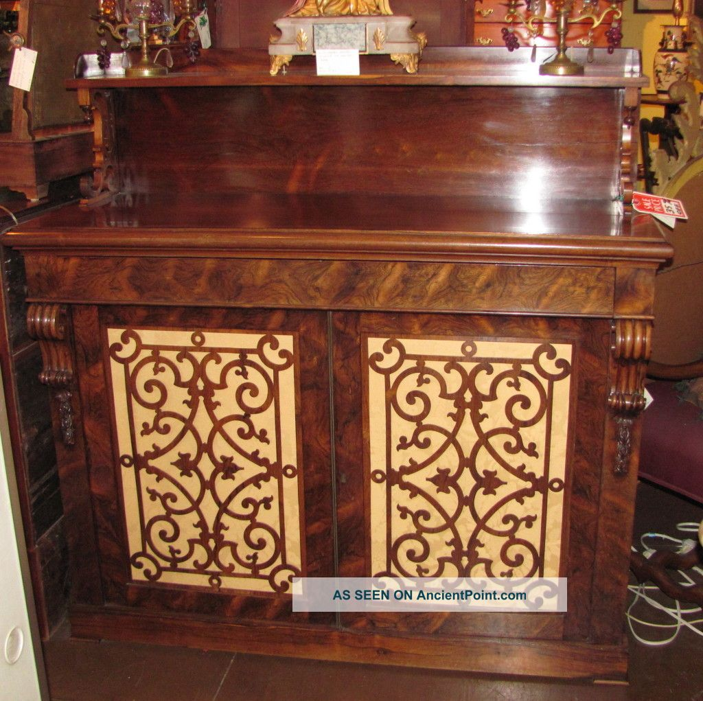 Antique English William Iv Rosewood Sideboard Circa 1830 1800-1899 photo