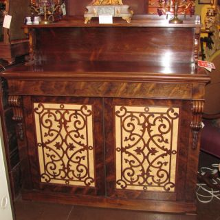 Antique English William Iv Rosewood Sideboard Circa 1830 photo