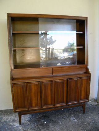 Mid Century Walnut China Cabinet photo