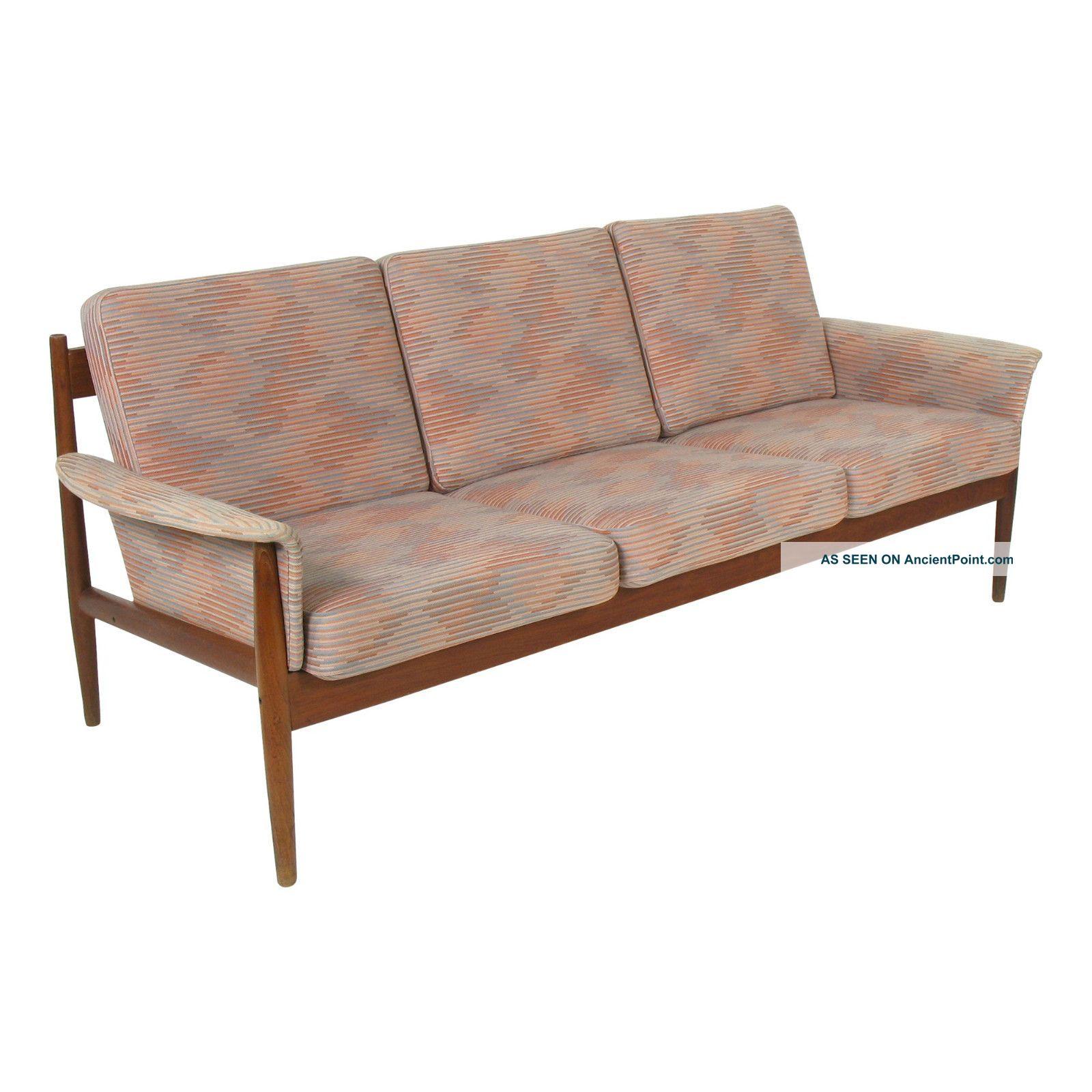 Grete Jalk France Son Mid Century Danish Modern Teak Sofa