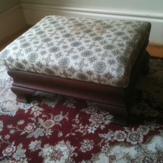 Antique Solid Oak Federal Style Foot Stool See 12 Pics For Details & Dimensions photo