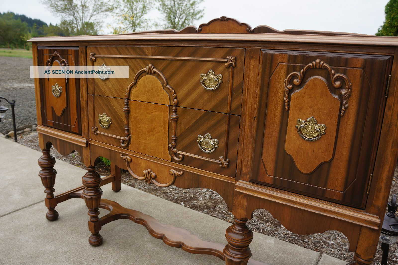 78581 Magnificent Antique Buffet Vintage Server Sideboard Buffet
