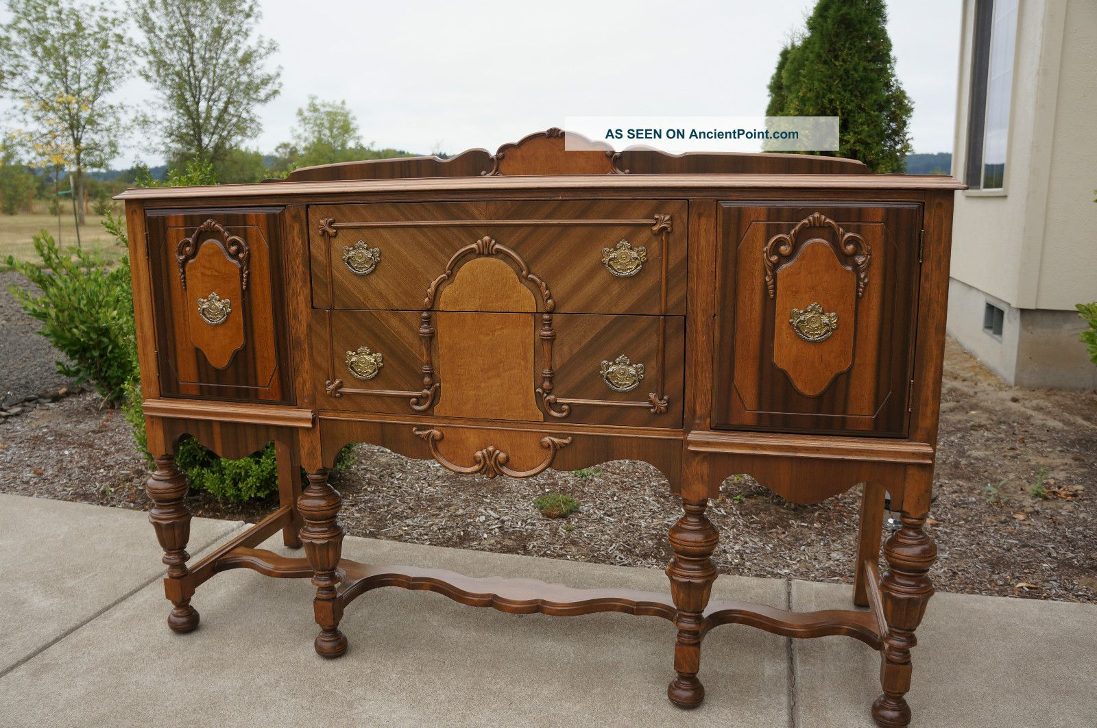 78581 Magnificent antique buffet vintage server sideboard buffet ...
