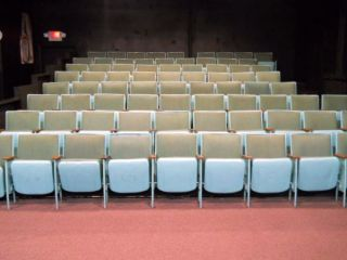 Vintage Antique Movie Theater Chairs 1930 ' S photo