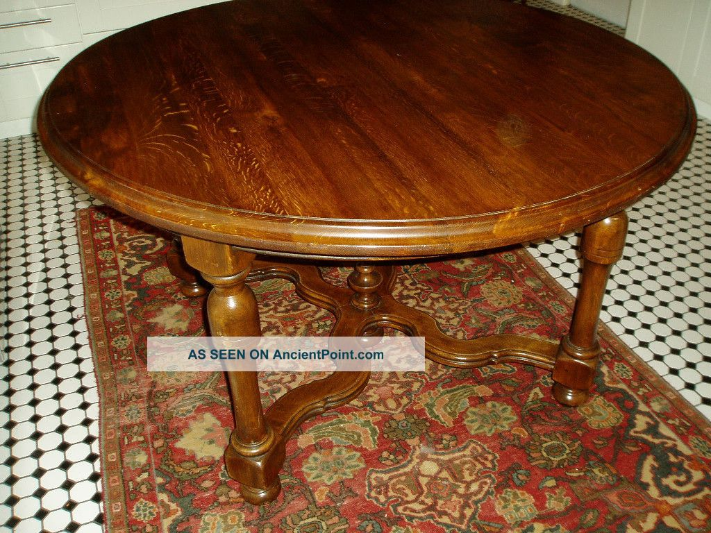 antique s solid oak english dining room table
