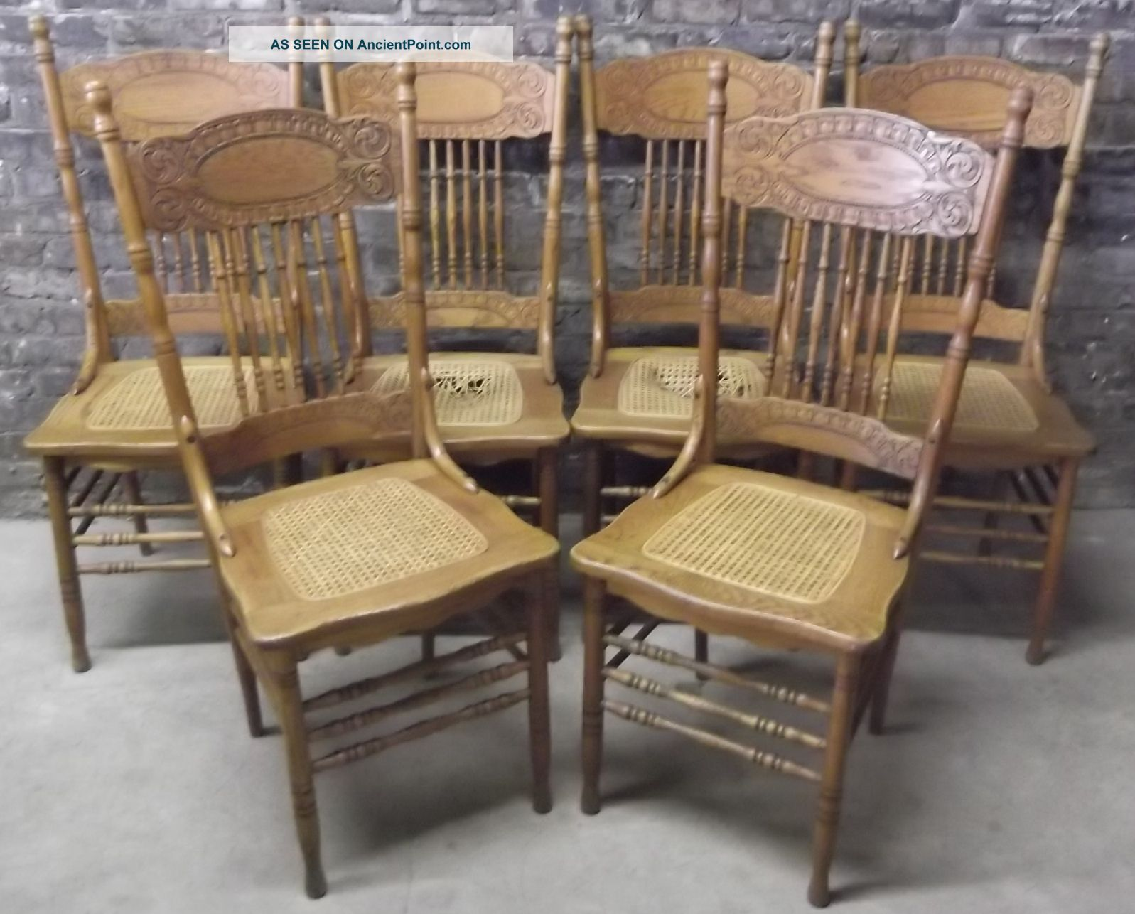 Set_Of_6_Antique_C1900_Victorian_Press_Back_Oak_Dining_Chairs_Caned_Seats_Look_1_Lgw Fascinating Cane Dining Room Chairs Design Decoration