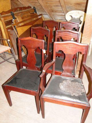 Early 20th Century Mahogany Dining Chairs photo