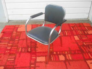 Machine Age Art Deco Chrome Arm Chair Wolfgang Hoffman Howell photo