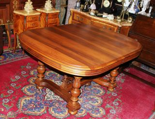 French Antique Gothic Henry Ii Table.  Made From Walnut. photo