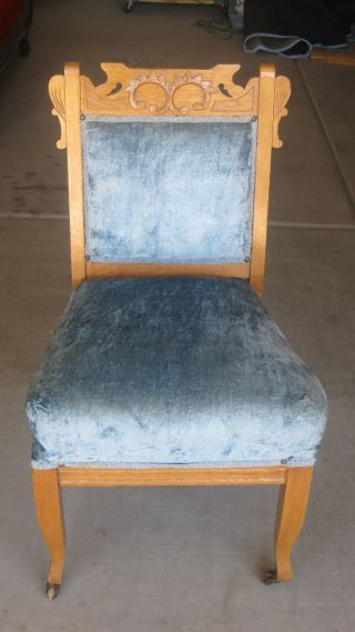 Eastlake Style Straight Back Chair photo