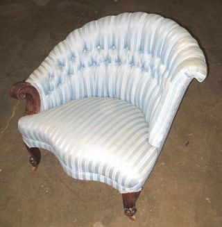 Deco Victorian Eastlake Parlor Chair C.  1900,  Vgc,  All photo