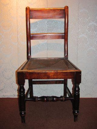 Set Of 6 Antique English Mahogany Rush Seat Dining Chairs Circa 1800 photo