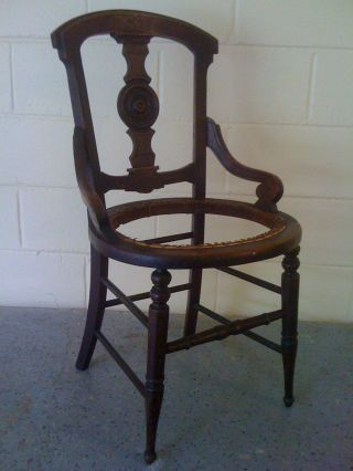 C.  1900 Carved Antique Side Armchair Matching Item : 280994535807 photo
